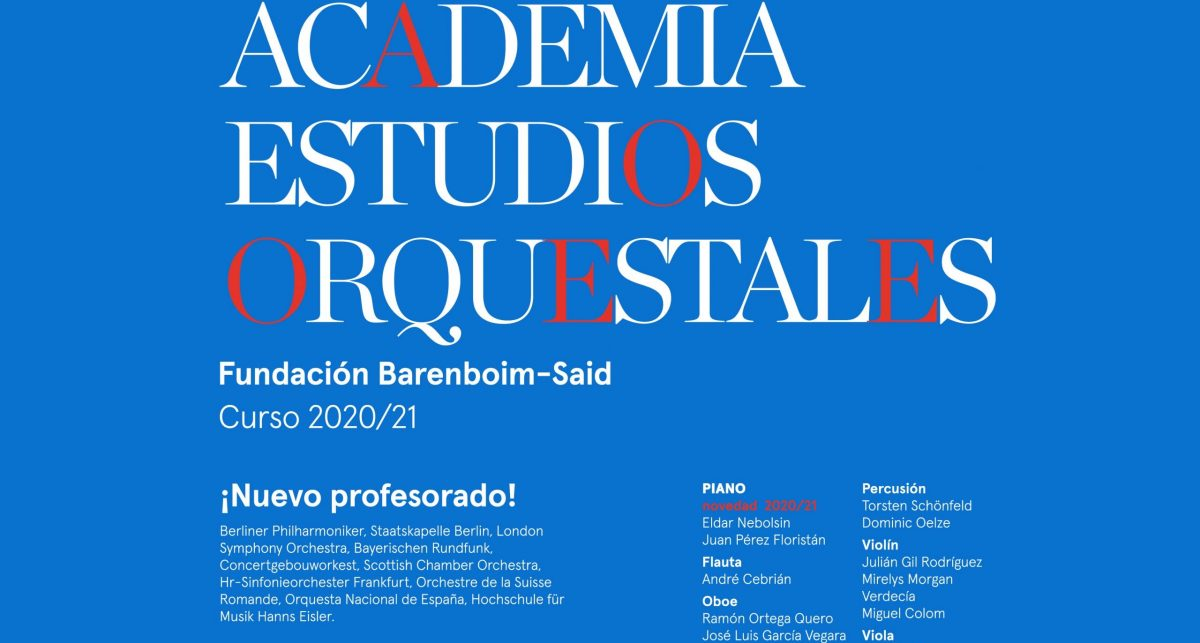 NEW PROFESSORSHIP AT THE BARENBOIM-SAID ACADEMY